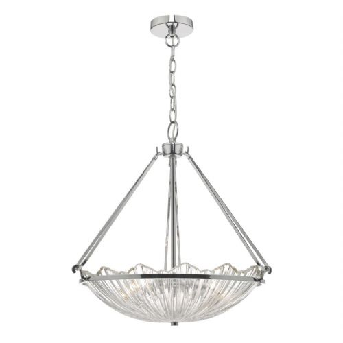 Avril 3lt Pendant Polished Nickel & Glass (double insulated) BXAVR0350-17
